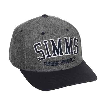 Simms Wool Varsity Baseball Cap (For Men and Women) in Charcoal - Closeouts