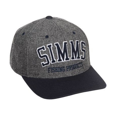 Simms Wool Varsity Baseball Cap (For Men and Women) in Charcoal