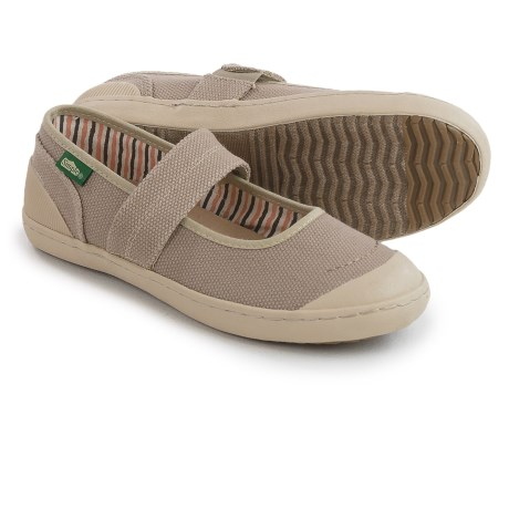 Simple Cactus Mary Janes Shoes (For Women)