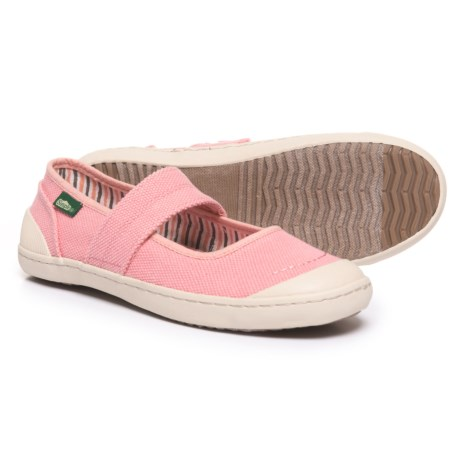 Simple Cactus Mary Janes Shoes (For Women) in Dusty Pink Canvas