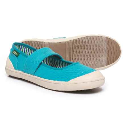 Simple Cactus Mary Janes Shoes (For Women) in Methyl Blue Canvas - Closeouts