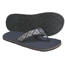 Simple Flippee Plaid Sandals - Recycled Materials, Flip-Flops (For Men) in Blue Plaid - Closeouts