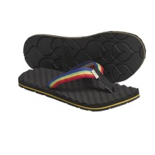 Simple Flippee Rainbow Sandals - Recycled Materials, Flip-Flops (For Women) in Black Rainbow - Closeouts