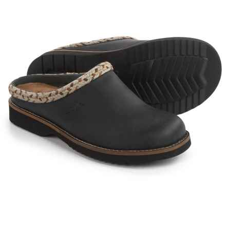 Simple Hallie Clogs - Leather, Open Back (For Women) in Black - Closeouts