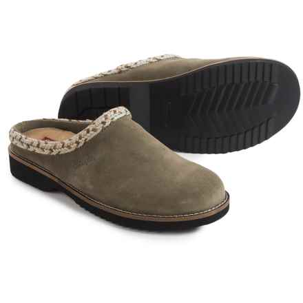 Simple Hallie Clogs - Leather, Open Back (For Women) in Taupe - Closeouts