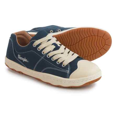 Simple Retro 91 Sneakers - Suede (For Men) in Navy - Closeouts