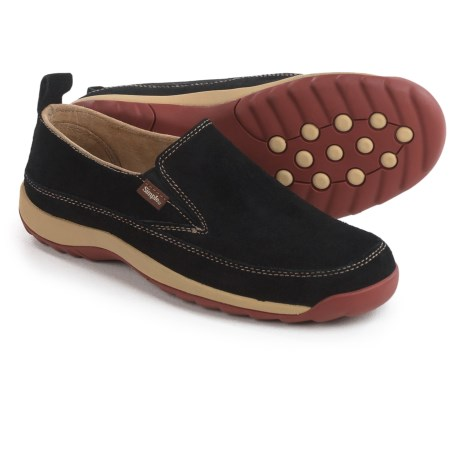 Simple Spice Shoes - Suede, Slip-Ons (For Women) in Black