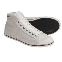 Simple Take On Hi High-Top Sneakers - Organic Cotton-Recycled Materials (For Women) in White - Closeouts
