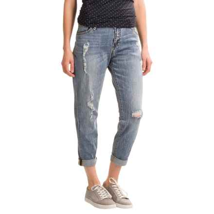 Simply Blue Shae Boyfriend Jeans (For Women) in Xtra Worn & Destroyed - Closeouts