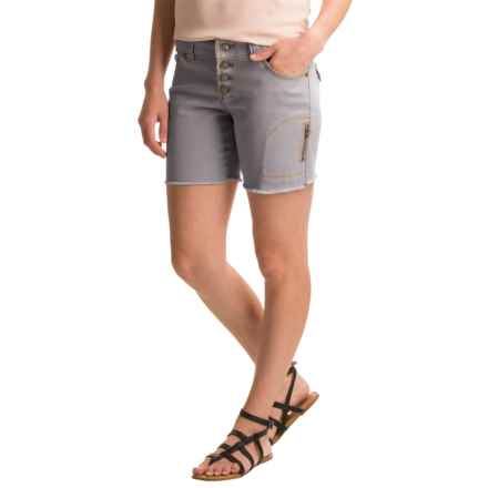Simply Blue Taryn Utility Shorts - Slim Fit (For Women) in Flint - Closeouts