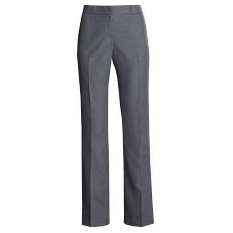Single Back Pocket Pants - Flat Front (For Women) in Ocean/Grey