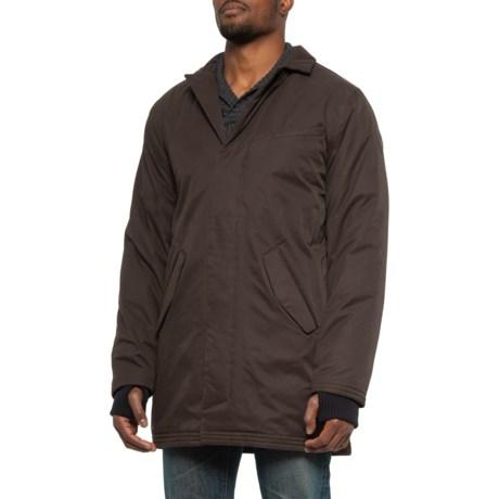 Sir Salvador Overcoat Down Jacket - Waterproof, Insulated (For Men) - DARK BROWN (XS )