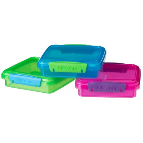 Sistema Sandwich Box - 3-Pack in Blue/Green/Pink