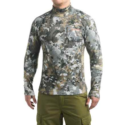 Sitka Core Midweight Mock Neck Optifade® Shirt - Long Sleeve (For Men) in Optifade Elevated Ii - Closeouts