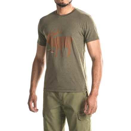 Sitka Elk Sketch T-Shirt - Short Sleeve (For Men and Big Men) in Pyrite - Closeouts