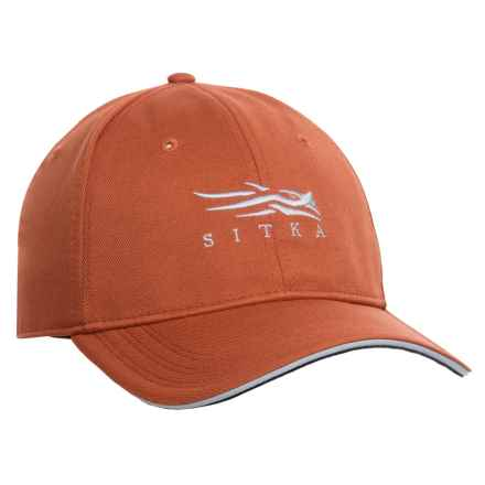 Sitka Fitted Baseball Cap in Burnt Orange - Closeouts