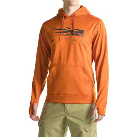 Sitka Logo Hoodie (For Men and Big Men) in Burnt Orange - Closeouts