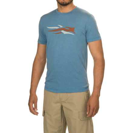 Sitka Logo T-Shirt - Short Sleeve (For Men and Big Men) in Lake Blue - Closeouts