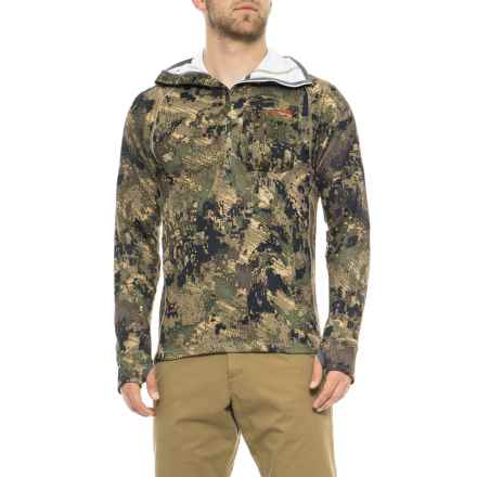 Sitka Traverse Hoodie - Zip Neck (For Men) in Optifade Ground Forest - Closeouts