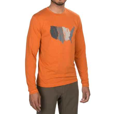 Sitka United States of Waterfowl T-Shirt - Long Sleeve (For Men and Big Men) in Burnt Orange - Closeouts