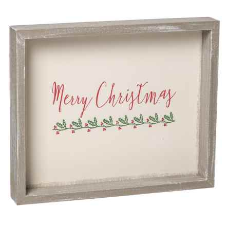"Sixtrees 10x12"" Framed ""Merry Christmas"" Wall Art in See Photo - Closeouts"