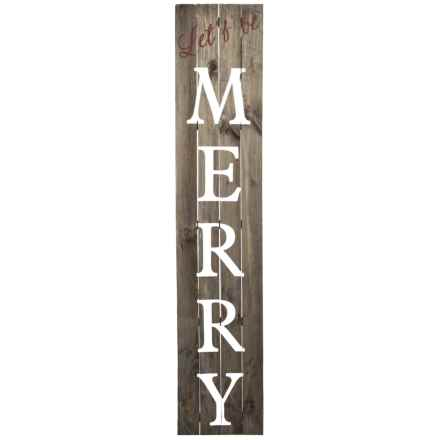 """Sixtrees 12x60"""" Let's Be Merry Wall Decor in See Photo - Closeouts"""