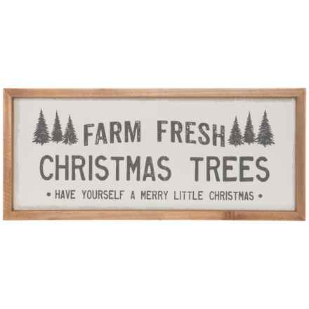 """Sixtrees 7x16"""" Farm Fresh Christmas Trees Wall Art in See Photo - Closeouts"""