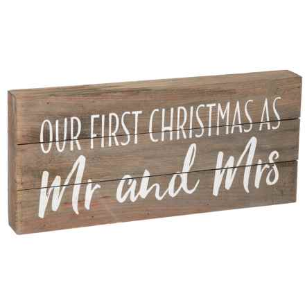 """Sixtrees 7x16"""" First Christmas Mr. and Mrs. Wall Art in See Photo - Closeouts"""