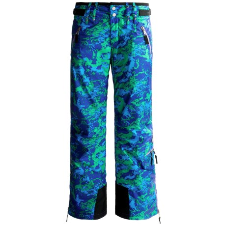 Skea Cargo Ski Pants - Insulated (For Women) in Blue/Green Komodo
