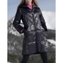 Skea Coco Long Coat - 550 Fill Power (For Women) in Black - Closeouts