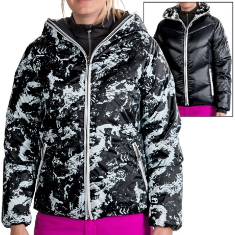 Skea Java Down Jacket - Reversible, Insulated (For Women) in Black/Black Komodo
