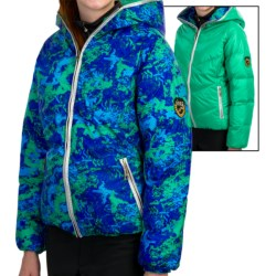 Skea Java Down Jacket - Reversible, Insulated (For Women) in Black/Pink Komodo