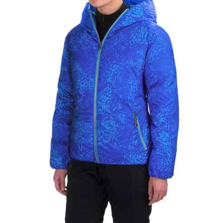 Skea Java Down Parka - Reversible (For Women) in Sky Blue/Blue - Closeouts