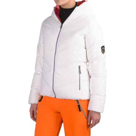 Skea Java Down Parka - Reversible (For Women) in White/Pink - Closeouts