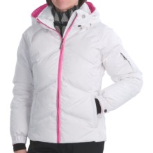Skea Stephanie Down Parka (For Women) in White/Hot Pink - Closeouts