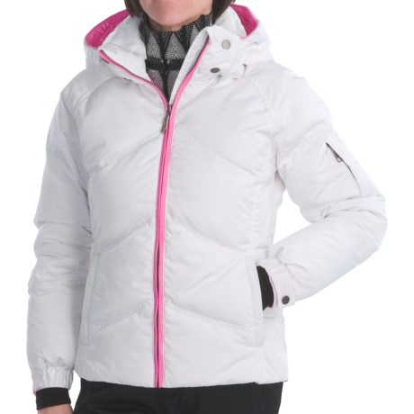 Skea Stephanie Down Parka (For Women) in White/Hot Pink