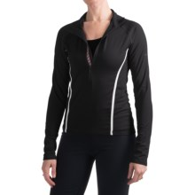 Skea Zumi Shirt - Zip Neck, Long Sleeve (For Women) in Black/White - Closeouts