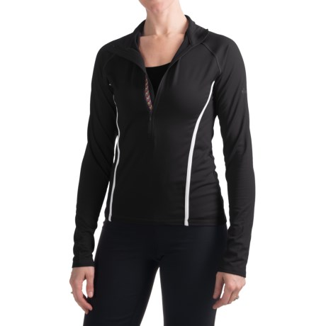 Skea Zumi Shirt - Zip Neck, Long Sleeve (For Women) in Black/White
