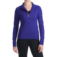 Skea Zumi Shirt - Zip Neck, Long Sleeve (For Women) in Blue Violet - Closeouts