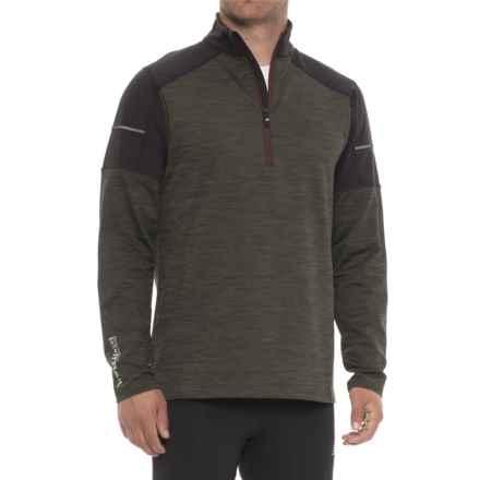 Skechers Adventure Sweatshirt - Zip Neck (For Men) in Green - Closeouts