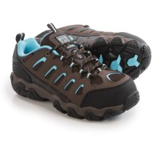 Skechers Blais Athol Work Shoes - Waterproof, Steel Toe (For Women) in Brown/Blue - Closeouts