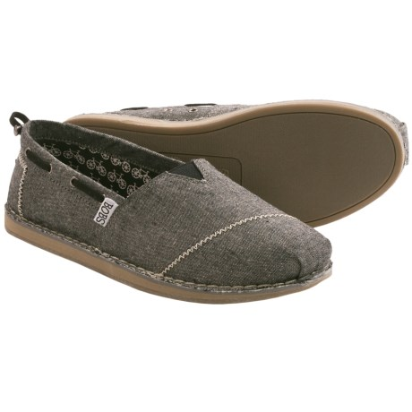 Skechers Bobs Chill Shoes - Canvas, Slip-Ons (For Women) in Black