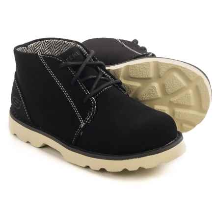 Skechers Bowland Rocky Drift Chukka Boots - Vegan Leather (For Little and Big Boys) in Black - Closeouts