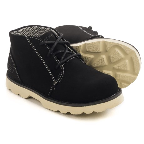 Skechers Bowland Rocky Drift Chukka Boots - Vegan Leather (For Little and Big Boys) in Black