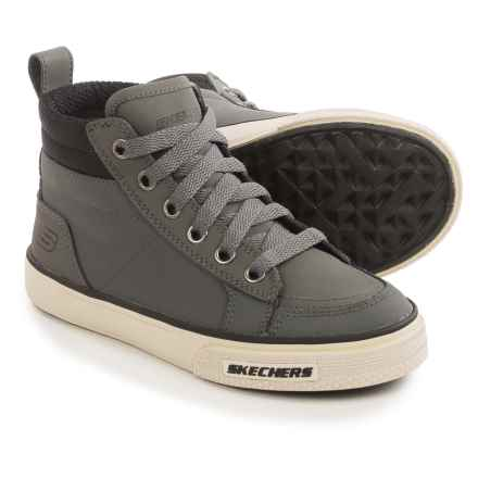 Skechers Brixor High-Top Sneakers - Leather (For Little and Big Boys) in Charcoal - Closeouts