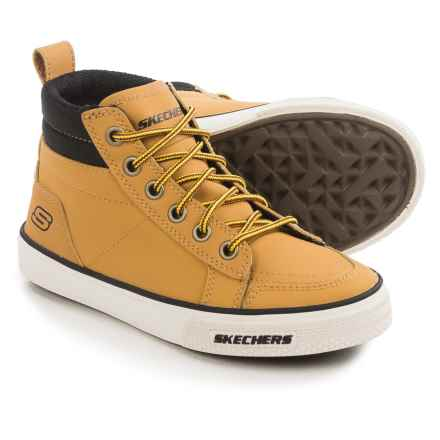 Skechers Brixor High-Top Sneakers - Leather (For Little and Big Boys) in Wheat - Closeouts