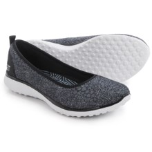 Skechers Burst Microburst Hyped-Up Shoes - Slip-Ons (For Women) in Black/White - Closeouts
