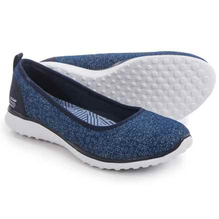 Skechers Burst Microburst Hyped-Up Shoes - Slip-Ons (For Women) in Navy - Closeouts