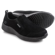 Skechers Burst Slight Edge Shoes - Suede, Slip-Ons (For Men) in Black - Closeouts