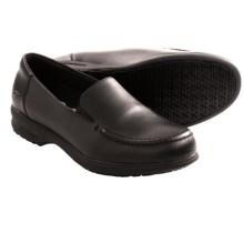 Skechers Caviar Three Work Shoes - Leather, Slip-Ons (For Women) in Black - Closeouts